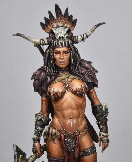 1//10 Resin Figure Bust NORTHERN WIND Female Warrior Unpainted Unassembled 4431