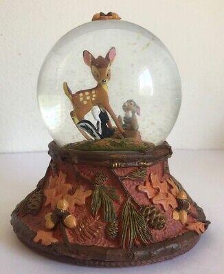 "Disney Hallmark Bambi & Thumper Snow Globe ""Forest Friends Forever"" CLX2012"