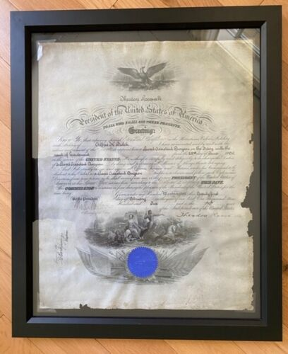 Teddy Roosevelt Signed Military Appointment Document RARE - LOOK! - Museum Glass