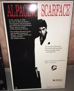 SCARFACE MOVIE POSTER! EXCELLENT CONDITION!
