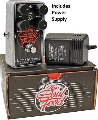 New Electro-Harmonix Bass Soul Food Distortion Fuzz Overdrive Effects Pedal EHX