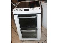 6 MONTHS WARRANTY 55CM WIDE Electrolux AA energy rated, double oven electric cooker FREE DELIVERY