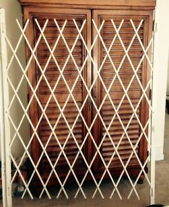 Folding Security Gate 6' X 6'6 Galvanized Steel