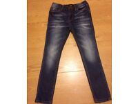 BNWT GIRLS BLUE DENIM JEANS FROM RIVER ISLAND - AGE 8 - NEVER WORN