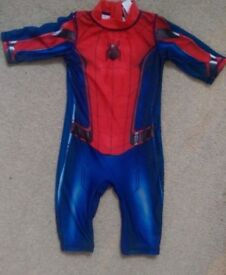 Tu Spiderman uv swim suit age 2-3 years.
