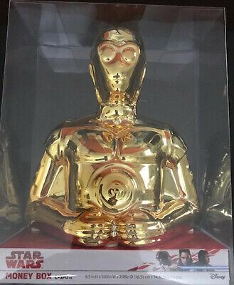 Hucha Robot C3po Dorado Star Wars Oficial Pelicula Guerra Galaxias Money Box