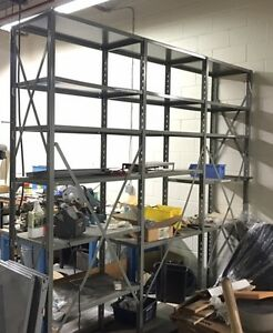 Heavy Duty Steel Shelving !! ALREADY DISASSEMBLED !!