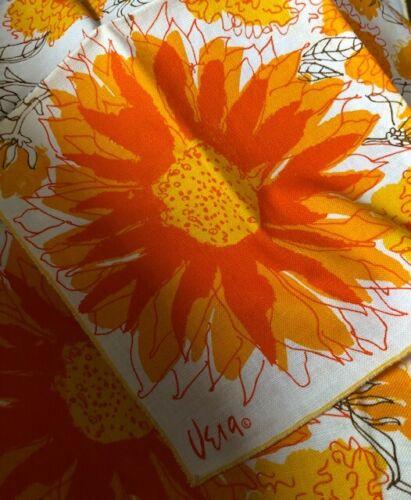 Mid-Century Table Napkins Vera Set of 4  Sunflower
