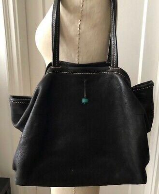 Henry Cuir for Barneys Black Leather Shoulder Handbag, Tote, $1500, Beguelin