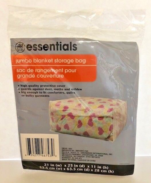 Blanket Storage Bag Jumbo  Comforter Protective Cover Quilts
