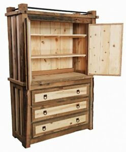 Reclaimed Hemlock & Pine Armoire for sale!