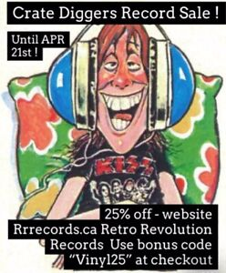 """2 Days left on the """"Crate Diggers"""" Vinyl Record Sale ! at RETRO"""