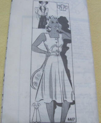 Vintage 1940's sun / tennis dress pattern complete never used  size 18