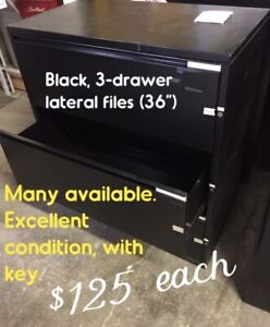 USED LATERAL FILE CABINETS, EXCELLENT CONDITION WITH KEY