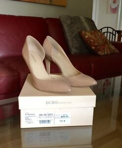 BCBG Nude Patent Leather Heals-Size 7.5