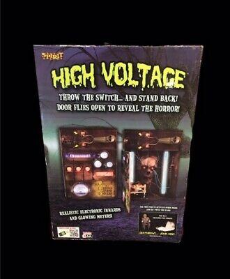 *~Spirit Halloween RARE High Voltage Animated/sound Throw the Switch Prop
