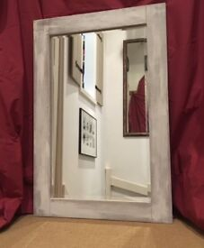 SOLD Large Framed Mirror - Refinished