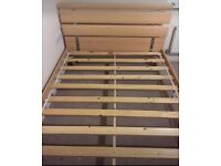 Beech double bed , sturdy, can deliver