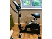 Kettler PX1 Exercise Bike with heart monitor and preset programs.