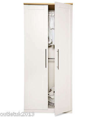 BRAND NEW MAMAS AND PAPAS RIALTO IVORY WHITE WARDROBE BABY NURSERY FURNITURE