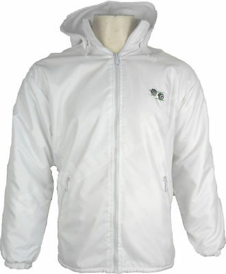 Unisex Bowling Bowls club White Jacket Fleece Lined Waterproof FABRIC S-XXL