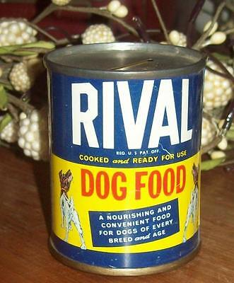 Old Advertising Promotional Bank RIVAL Dog Food Rival Packing Co Chicago 32 IL