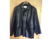 Handsome Vintage1990's TomCat, heavy-weight , thick soft Leather Jacket/Coat in fantastic condition