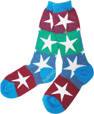 Vivienne Westwood Japan Wool Socks Orb Star Pattern Orb Embroidered-Size 23-24cm