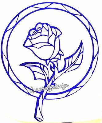 Beauty And The Beast Rose Tattoo (vinyl sticker wall decal tattoo car laptop enchanted rose beauty and the)