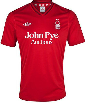 NOTTINGHAM FOREST 2012/13 HOME (XL) RED SH/SL UMBRO FOOTBALL SOCCER SHIRT JERSEY image