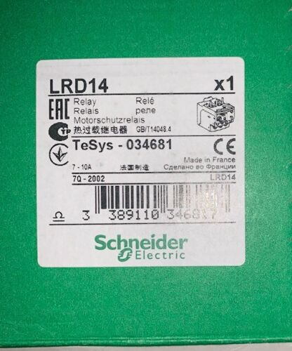 Schneider Electric LRD14  Overload Relay 7-10 Amp TesYS - 034681 - NEW