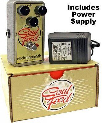 NEW Electro Harmonix EHX Soul Food Transparent Overdrive Distortion w/ Power