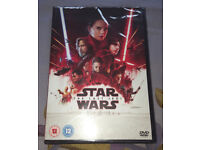star wars the last jedi dvd new & sealed