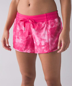 Size 12 Lululemon pink hotty hot shorts