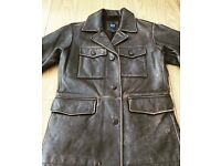 Men's Retro Style Leather Jacket from GAP - Brand New