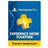 Sony 3-Month Playstation Plus Membership - PS3/ PS4/ PS Vita