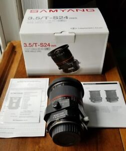 Samyang T/S 24mm f3.5 - Sony a-mount adaptable to e-mount