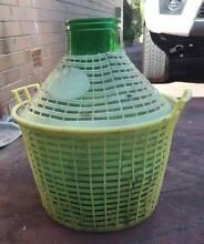 Vintage Large Glass Bottle Demijohn plastic Wicker Olives Koondoola Wanneroo Area Preview