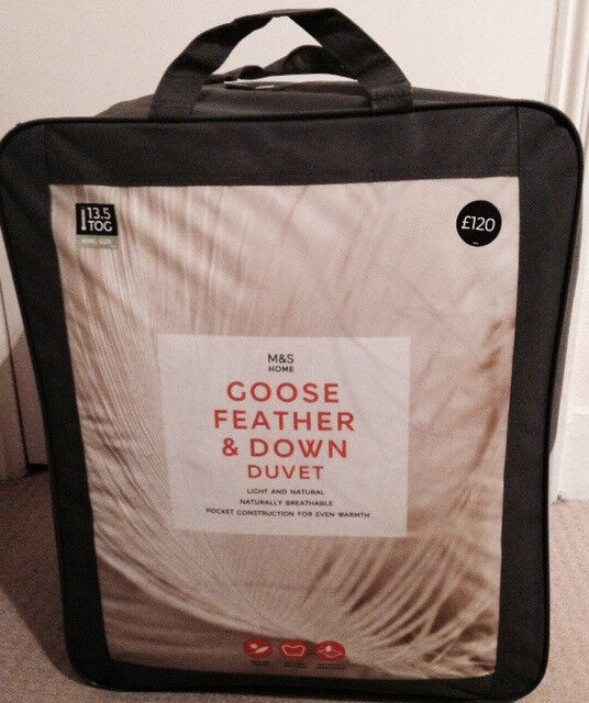 Goose Feather & Down M&S king size duvet - 13.5 TOG