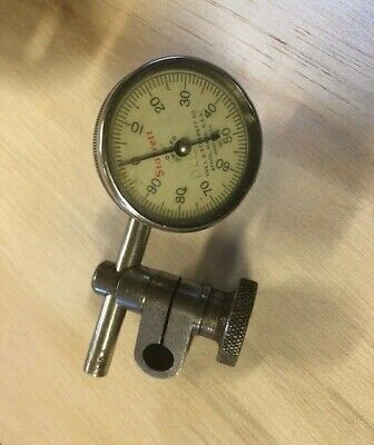 Starrett No.196 Dial Indicator Vertical .001 Swivel Post Snug Clamp Tool