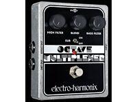 Electro Harmonix Octave Multiplexer analogue guitar pedal stomp box EHX