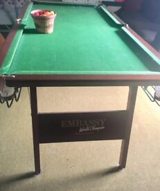 Small Embassy Snooker Table