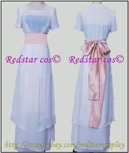 Titanic-Rose-White-Dress-Costume-Custom-Tailed-in-Any-size