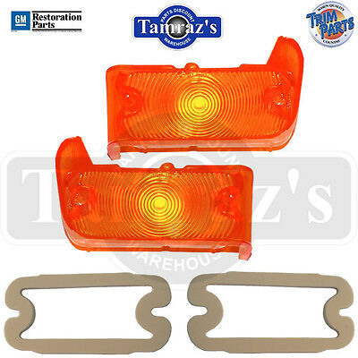 67 Chevelle Parking Turn Light Lamp Lens W/gaskets Pair