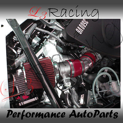 06-08 Chevy Impala 3.5 3.9 V6 Air Intake Kit+red Filter