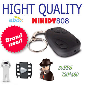 Mini-Car-DVR-Key-Hidden-Web-Spy-Chain-Camera-Video-Audio-Recorder-DV-808