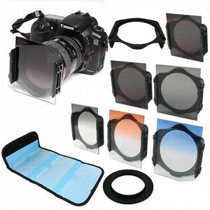 77mm-ring-Adapter-ND2-ND4-ND-8-Graduated-Orange-Blue-Filter-f-Cokin-p-series