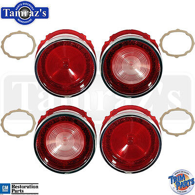 65 Bel Air Rear Tail Light Back Up Lamp Lens With Gaskets 8pc Made In Usa