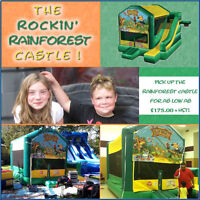 Rent the Rockin' Rainforest Castle for your next birthday party
