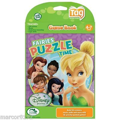 Leap Frog Tag Reading System Activity Game Book Disney Fairies Tinker Bell